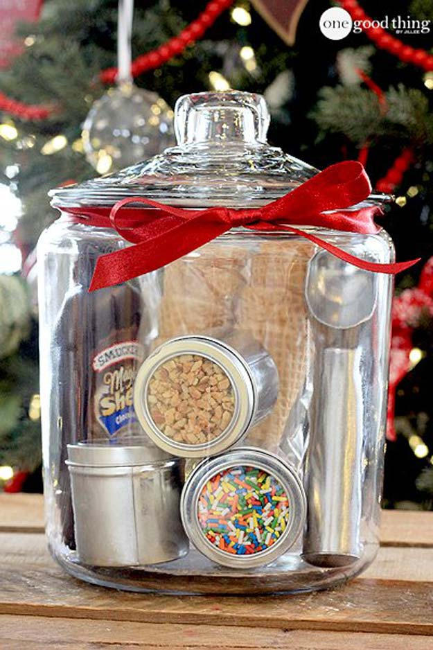 Cute DIY Mason Jar Gift Ideas for Teens - DIY Ice Cream Party In A Jar - Best Christmas Presents, Birthday Gifts and Cool Room Decor Ideas for Girls and Boy Teenagers - Fun Crafts and DIY Projects for Snow Globes, Dollar Store Crafts and Valentines for Kids