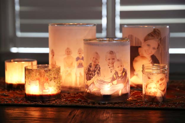 DIY Christmas Presents To Make For Parents - DIY Glowing Photo Luminaries - Cute, Easy and Cheap Crafts and Gift Ideas for Mom and Dad - Awesome Things to Make for Mothers and Fathers - Dollar Store Crafts and Cool Things to Make on A Budger for the Holidays - DIY Projects for Teens http://diyprojectsforteens.com/diy-christmas-gifts-parents