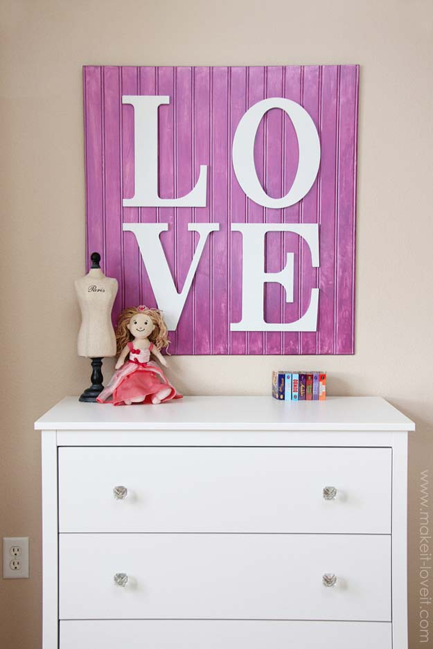Diy Purple Room Decor Diy Wooden Love Sign Best Bedroom Ideas And Projects In