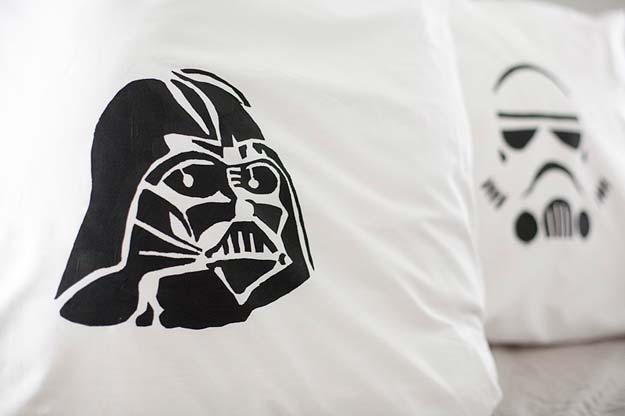 Cool DIY Gifts to Make For Your Boyfriend - DIY Star Wars Pillowcase - Easy, Cheap and Awesome Gift Ideas to Make for Guys - Fun Crafts and Presents to Give to Boyfriends - Men Love These Gift Card Holders, Mason Jar Kits, Thoughtful Handmade Christmas Gifts - DIY Projects for Teens http://diyprojectsforteens.com/diy-gifts-boyfriend