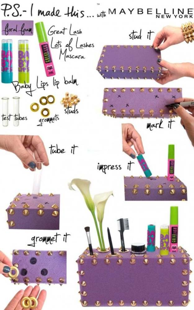DIY Purple Room Decor - DIY Beauty Box - Best Bedroom Ideas and Projects in Purple - Cool Accessories, Crafts, Wall Art, Lamps, Rugs, Pillows for Adults, Teen and Girls Room http://diyprojectsforteens.com/diy-room-decor-purple