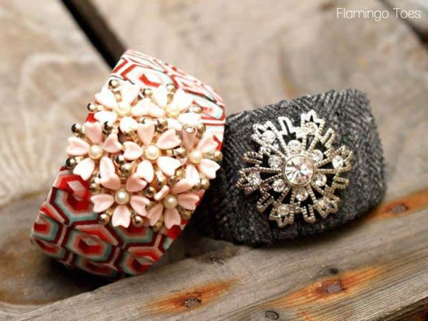 Cool Glue Gun Crafts and DIY Projects - DIY Antrho Knockoff Bracelet - Creative Ways to Use Your Glue Gun for Awesome Home Decor, DIY Gifts , Jewelry and Fashion - Fun Projects and Easy, Cheap DIY Ideas for Kids, Adults and Teens - Handmade Christmas Presents on A Budget http://diyprojectsforteens.com/fun-glue-gun-crafts/