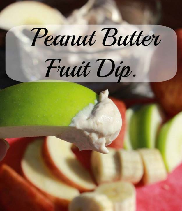 Cool and Easy Recipes For Teens to Make at Home - Peanut Butter Fruit Dip - Fun Snacks, Simple Breakfasts, Lunch Ideas, Dinner and Dessert Recipe Tutorials - Teenagers Love These Fun Foods that Are Quick, Healthy and Delicious Ideas for Meals http://diyprojectsforteens.com/diy-recipes-teens