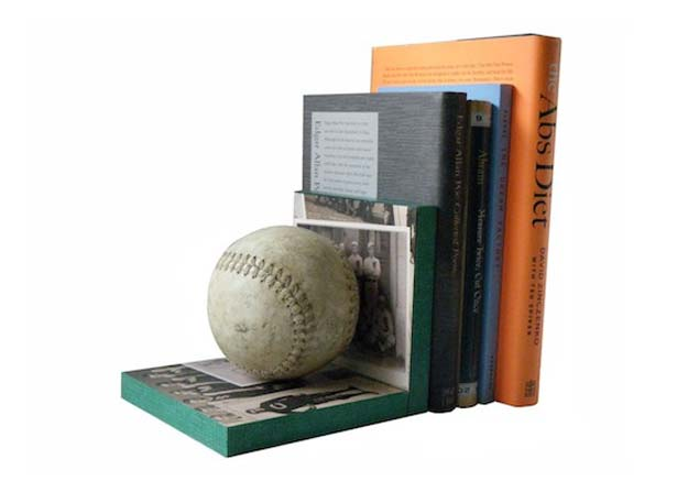 Cool DIY Gifts to Make For Your Boyfriend - DIY Baseball Book End - Easy, Cheap and Awesome Gift Ideas to Make for Guys - Fun Crafts and Presents to Give to Boyfriends - Men Love These Gift Card Holders, Mason Jar Kits, Thoughtful Handmade Christmas Gifts - DIY Projects for Teens #diygifts #teencrafts