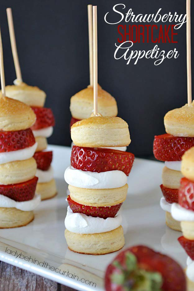 Cool and Easy Recipes For Teens to Make at Home - Strawberry Shortcake Appetizer Kabobs - Fun Snacks, Simple Breakfasts, Lunch Ideas, Dinner and Dessert Recipe Tutorials - Teenagers Love These Fun Foods that Are Quick, Healthy and Delicious Ideas for Meals