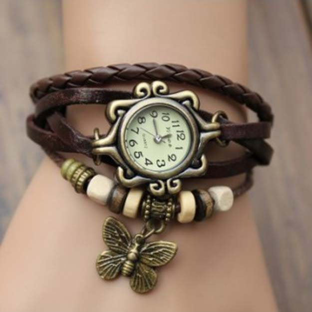 Cool Steampunk DIY Ideas - DIY Watch - Jewelry - Easy Home Decor, Costume Ideas, Jewelry, Crafts, Furniture and Steampunk Fashion Tutorials - Clothes, Accessories and Best Step by Step Tutorials - Creative DIY Projects for Adults, Teens and Tweens