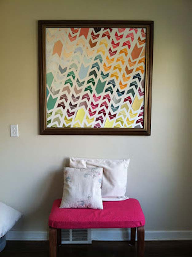 DIY Wall Art Ideas for Teen Rooms - DIY Chevron Art - Cheap and Easy Wall Art Projects for Teenagers - Girls and Boys Crafts for Walls in Bedrooms - Fun Home Decor on A Budget - Cool Canvas Art, Paintings and DIY Projects for Teens http://diyprojectsforteens.com/diy-wall-art-teens