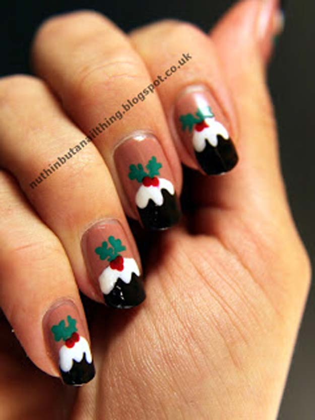 Cool DIY Nail Art Designs and Patterns for Christmas and Holidays -DIY Christmas Explosion Nails - Do It Yourself Manicure Ideas With Christmas Trees, Candy Canes, Snowflakes and Glittery Designs for Holiday Nails - Step by Step Tutorials and Instructions http://diyprojectsforteens.com/holiday-nail-art-patterns/