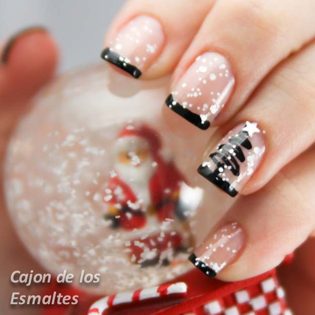 Cool DIY Nail Art Designs and Patterns for Christmas and Holidays -DIY Snow Globe Nails - Do It Yourself Manicure Ideas With Christmas Trees, Candy Canes, Snowflakes and Glittery Designs for Holiday Nails - Step by Step Tutorials and Instructions http://diyprojectsforteens.com/holiday-nail-art-patterns/