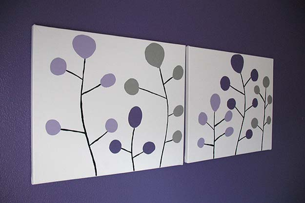 DIY Purple Room Decor - DIY Modern Wall Art- Best Bedroom Ideas and Projects in Purple - Cool Accessories, Crafts, Wall Art, Lamps, Rugs, Pillows for Adults, Teen and Girls Room http://diyprojectsforteens.com/diy-room-decor-purple