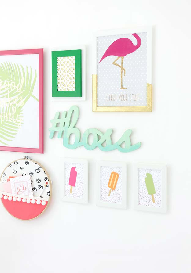 DIY Wall Art Ideas for Teen Rooms - DIY Cricut Explore Gallery Wall - Cheap and Easy Wall Art Projects for Teenagers - Girls and Boys Crafts for Walls in Bedrooms - Fun Home Decor on A Budget - Cool Canvas Art, Paintings and DIY Projects for Teens http://diyprojectsforteens.com/diy-wall-art-teens