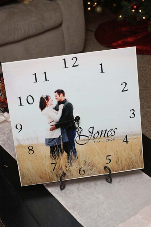diy christmas presents to make for parents diy picture clock cute easy and