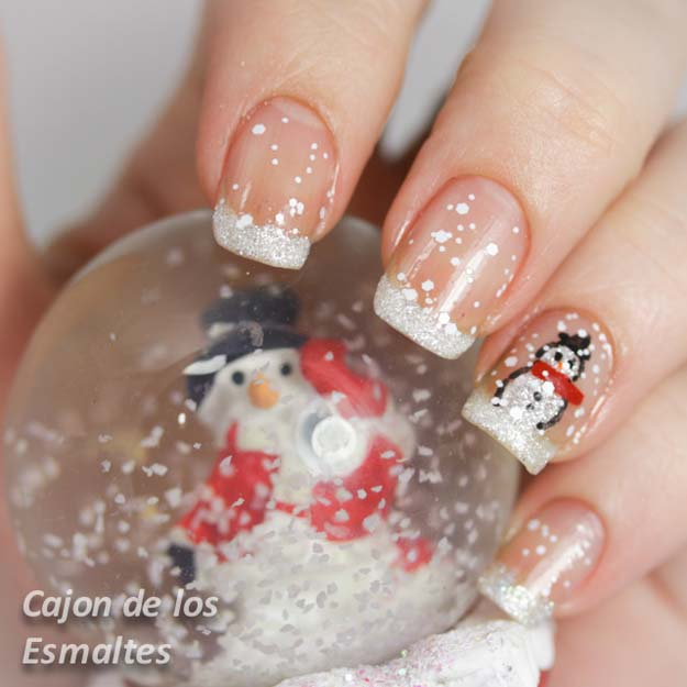 Cool DIY Nail Art Designs And Patterns For Christmas Holidays Snowman Nails