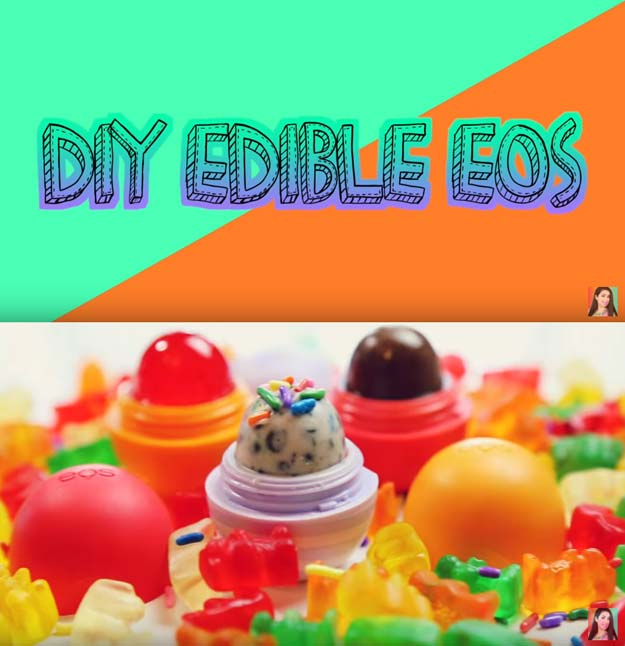 Best DIY EOS Projects - DIY Edible EOS - Turn Old EOS Containers Into Cool Crafts Ideas Like Lip Balm, Galaxy, Gumball Machine, and Watermelon - Fun, Cheap and Easy DIY Projects Tutorials and Videos for Teens, Tweens, Kids and Adults s