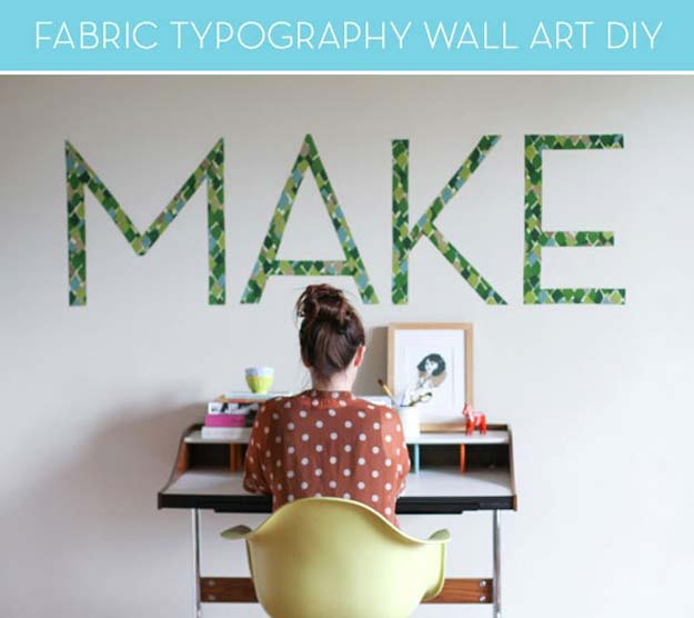DIY Wall Art Ideas for Teen Rooms - DIY Typography Wall Art - Cheap and Easy Wall Art Projects for Teenagers - Girls and Boys Crafts for Walls in Bedrooms - Fun Home Decor on A Budget - Cool Canvas Art, Paintings and DIY Projects for Teens