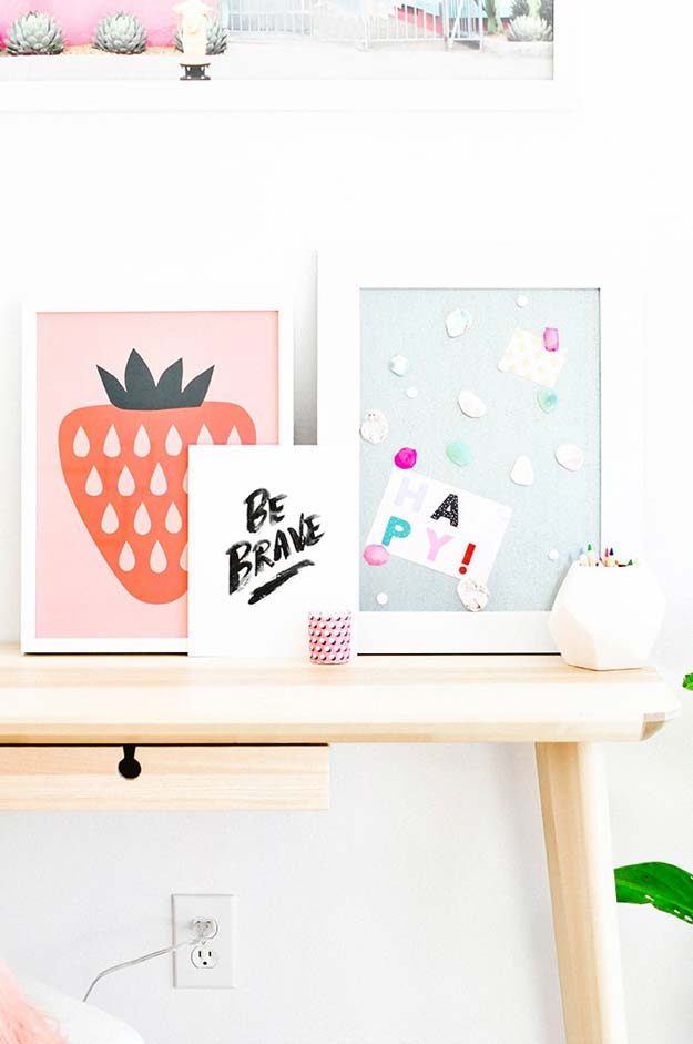 37 awesome diy wall art ideas for teen girls diy projects for teens - Teenage wall art ideas ...