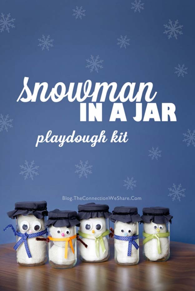 Cute DIY Mason Jar Gift Ideas for Teens - DIY Snowman In A Jar - Best Christmas Presents, Birthday Gifts and Cool Room Decor Ideas for Girls and Boy Teenagers - Fun Crafts and DIY Projects for Snow Globes, Dollar Store Crafts and Valentines for Kids