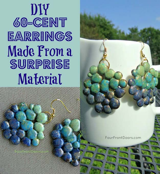 Cool Glue Gun Crafts and DIY Projects - DIY Glue Gun Earring - Creative Ways to Use Your Glue Gun for Awesome Home Decor, DIY Gifts , Jewelry and Fashion - Fun Projects and Easy, Cheap DIY Ideas for Kids, Adults and Teens - Handmade Christmas Presents on A Budget