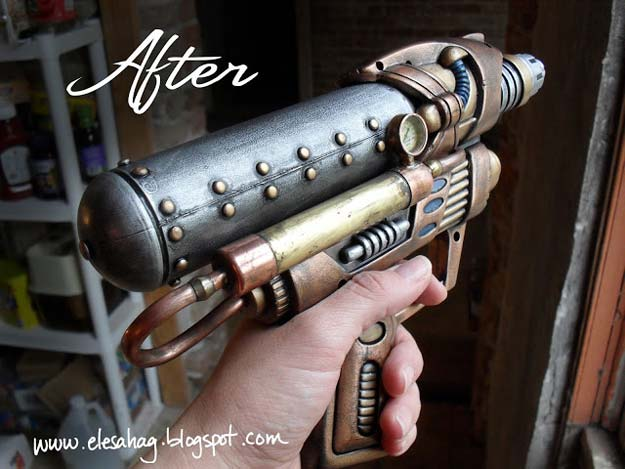 Cool Steampunk DIY Ideas - DIY Steampunk Gun - Easy Home Decor, Costume Ideas, Jewelry, Crafts, Furniture and Steampunk Fashion Tutorials - Clothes, Accessories and Best Step by Step Tutorials - Creative DIY Projects for Adults, Teens and Tweens