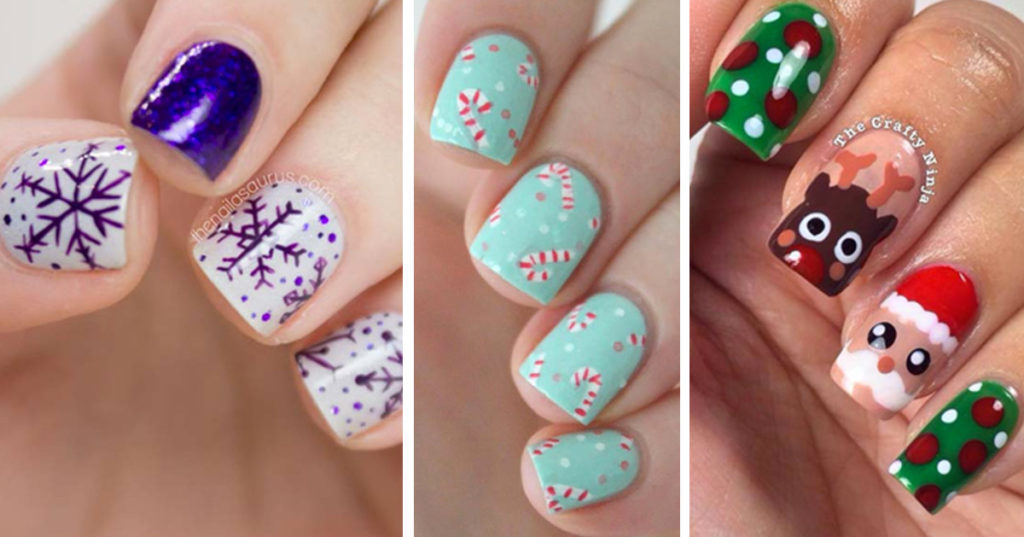 Holiday Nail Art Patterns - Cute Nail Art Designs for Winter and ...