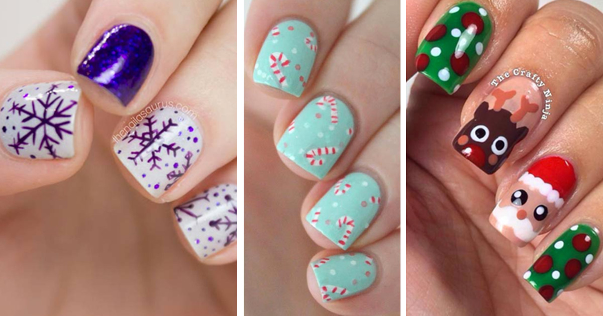 Holiday Nail Art Patterns - Cute Nail Art Designs for Winter and Christmas - Step by Step Tutorials