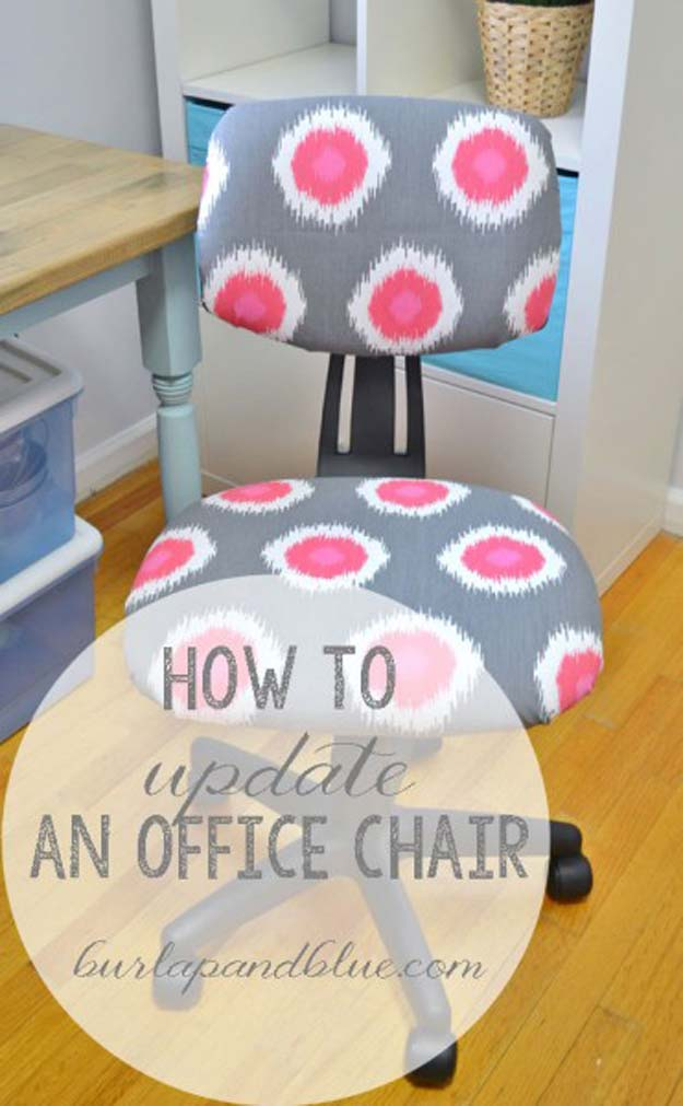 Cool Glue Gun Crafts and DIY Projects - DIY Office Chair - Creative Ways to Use Your Glue Gun for Awesome Home Decor, DIY Gifts , Jewelry and Fashion - Fun Projects and Easy, Cheap DIY Ideas for Kids, Adults and Teens - Handmade Christmas Presents on A Budget
