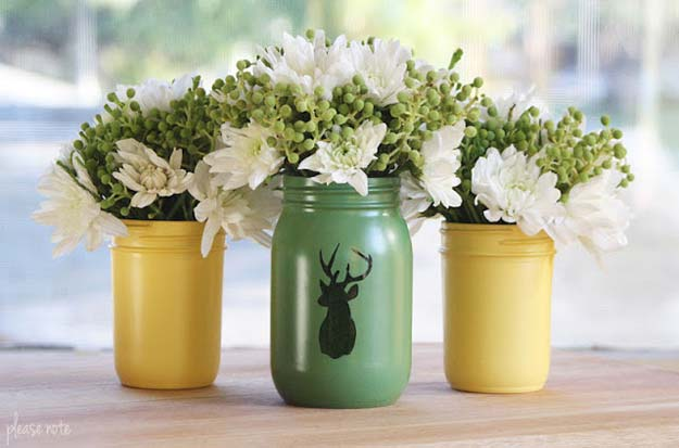 Cute DIY Mason Jar Gift Ideas for Teens - DIY Mason Jar Vases - Best Christmas Presents, Birthday Gifts and Cool Room Decor Ideas for Girls and Boy Teenagers - Fun Crafts and DIY Projects for Snow Globes, Dollar Store Crafts and Valentines for Kids