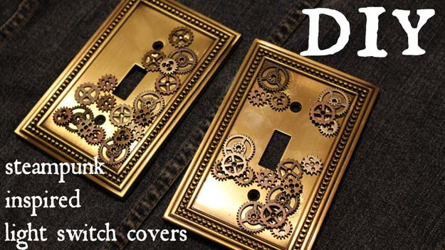 Cool Steampunk DIY Ideas - DIY Steampunk Light Switch - Easy Home Decor, Costume Ideas, Jewelry, Crafts, Furniture and Steampunk Fashion Tutorials - Clothes, Accessories and Best Step by Step Tutorials - Creative DIY Projects for Adults, Teens and Tweens