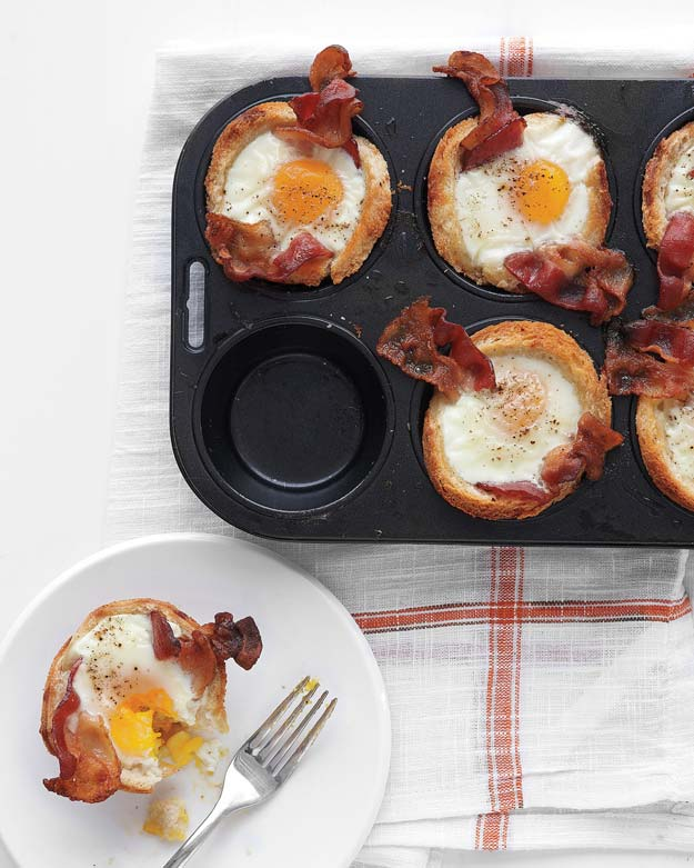 Cool and Easy Recipes For Teens to Make at Home - Bacon, Egg, and Toast Cups - Fun Snacks, Simple Breakfasts, Lunch Ideas, Dinner and Dessert Recipe Tutorials - Teenagers Love These Fun Foods that Are Quick, Healthy and Delicious Ideas for Meals