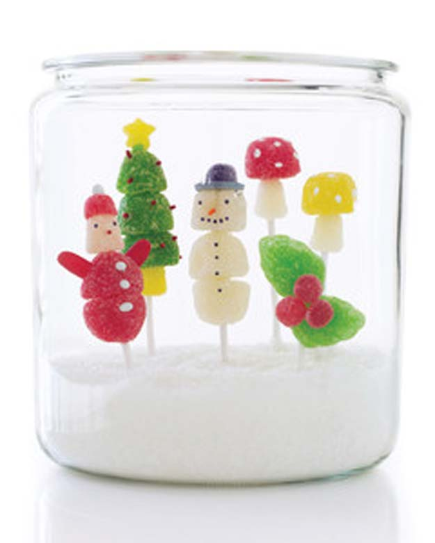 Cute DIY Mason Jar Gift Ideas for Teens - DIY Holiday Gumdrop Pops - Best Christmas Presents, Birthday Gifts and Cool Room Decor Ideas for Girls and Boy Teenagers - Fun Crafts and DIY Projects for Snow Globes, Dollar Store Crafts and Valentines for Kids
