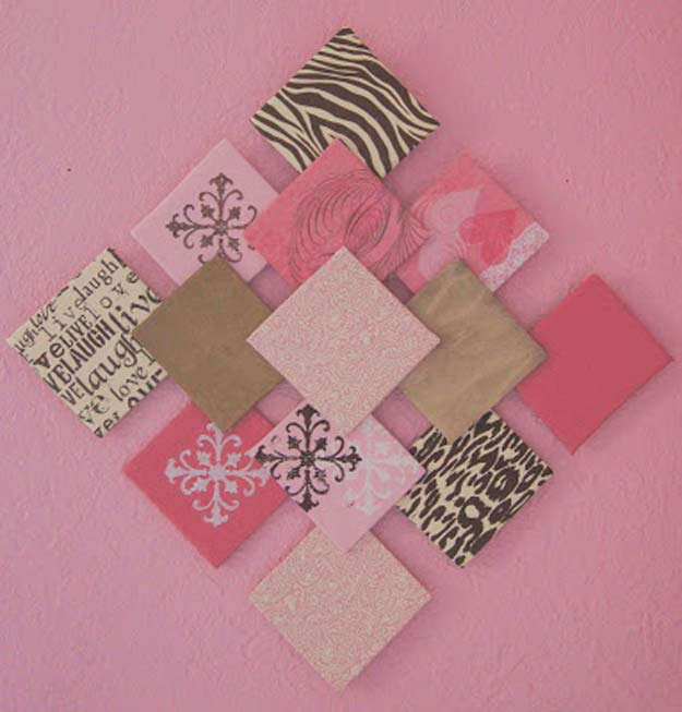 Wall Decor Ideas Using Paper : Awesome diy wall art ideas for teen girls