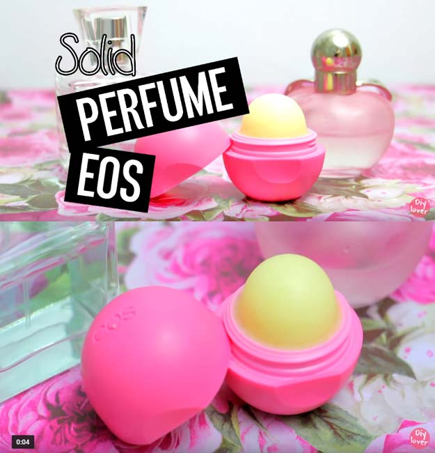 Best DIY EOS Projects - DIY Favorite Perfume EOS - Turn Old EOS Containers Into Cool Crafts Ideas Like Lip Balm, Galaxy, Gumball Machine, and Watermelon - Fun, Cheap and Easy DIY Projects Tutorials and Videos for Teens, Tweens, Kids and Adults http://diyprojectsforteens.com/diy-eos-projects