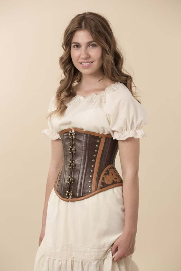 Cool Steampunk DIY Ideas - DIY Steampunked Corset - Easy Home Decor, Costume Ideas, Jewelry, Crafts, Furniture and Steampunk Fashion Tutorials - Clothes, Accessories and Best Step by Step Tutorials - Creative DIY Projects for Adults, Teens and Tweens