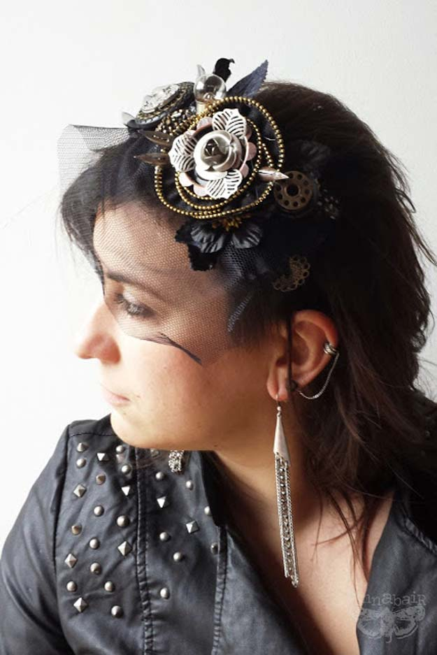 Cool Steampunk DIY Ideas - DIY Steampunk Headband - Easy Home Decor, Costume Ideas, Jewelry, Crafts, Furniture and Steampunk Fashion Tutorials - Clothes, Accessories and Best Step by Step Tutorials - Creative DIY Projects for Adults, Teens and Tweens