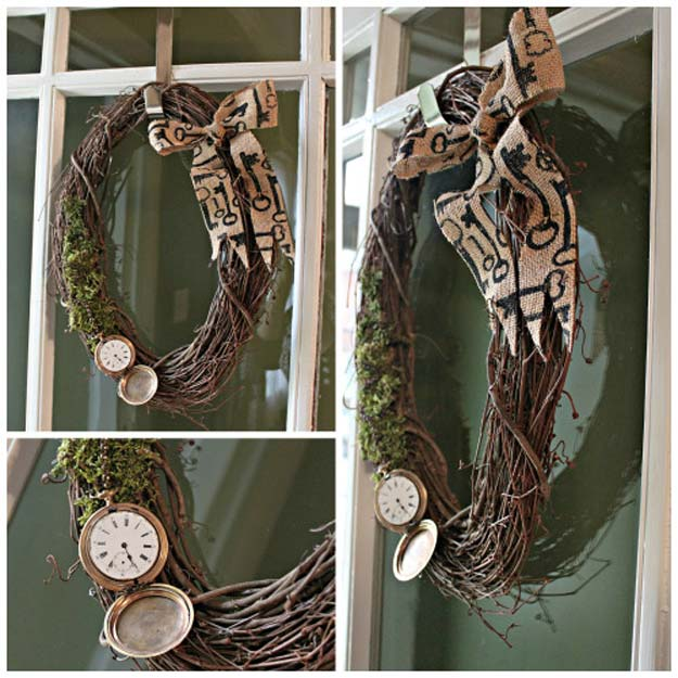 Cool Steampunk DIY Ideas - DIY Steampunk Wreath - Easy Home Decor, Costume Ideas, Jewelry, Crafts, Furniture and Steampunk Fashion Tutorials - Clothes, Accessories and Best Step by Step Tutorials - Creative DIY Projects for Adults, Teens and Tweens