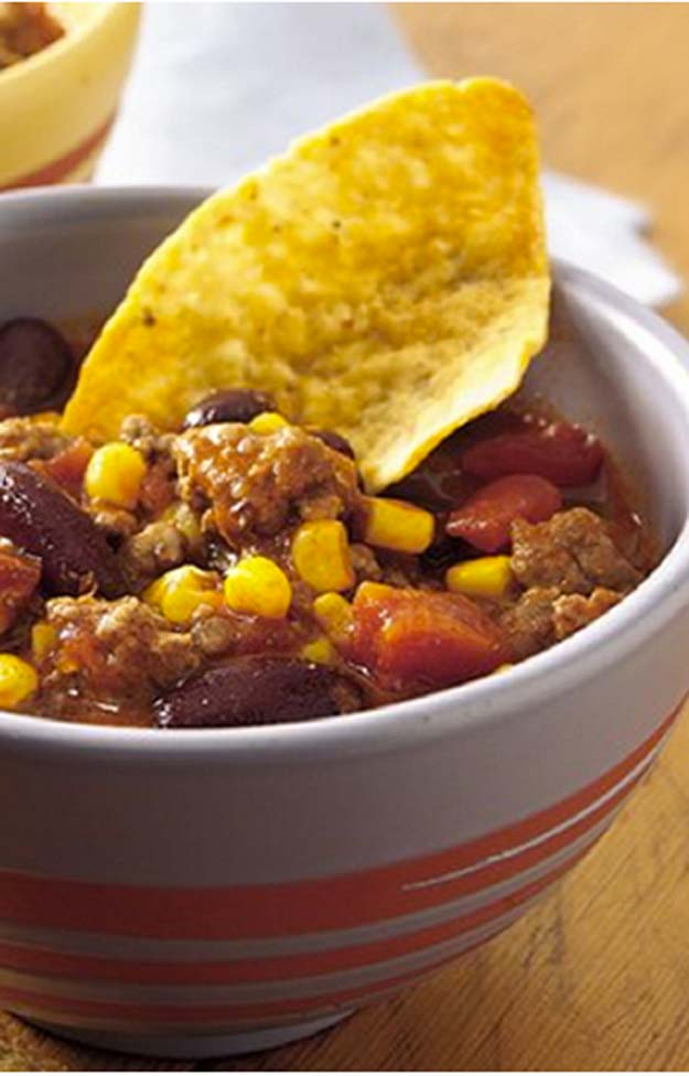 Cool and Easy Recipes For Teens to Make at Home - Taco Corn Chili - Fun Snacks, Simple Breakfasts, Lunch Ideas, Dinner and Dessert Recipe Tutorials - Teenagers Love These Fun Foods that Are Quick, Healthy and Delicious Ideas for Meals