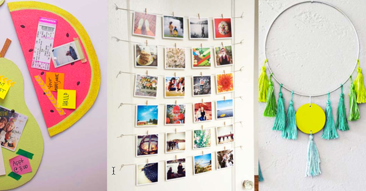 Awesome Diy Wall Art Ideas For Teen Girls Diy Projects For Teens