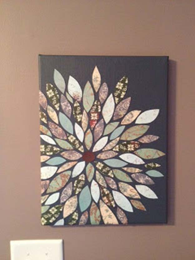 DIY Wall Art Ideas for Teen Rooms - DIY Wall Flower - Cheap and Easy Wall Art Projects for Teenagers - Girls and Boys Crafts for Walls in Bedrooms - Fun Home Decor on A Budget - Cool Canvas Art, Paintings and DIY Projects for Teens
