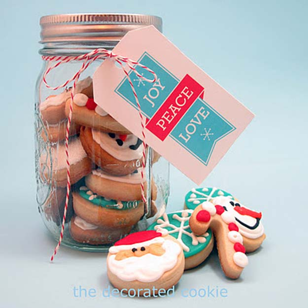 cute diy mason jar gift ideas for teens diy bite size christmas cookies in - Christmas Cookie Gift Ideas