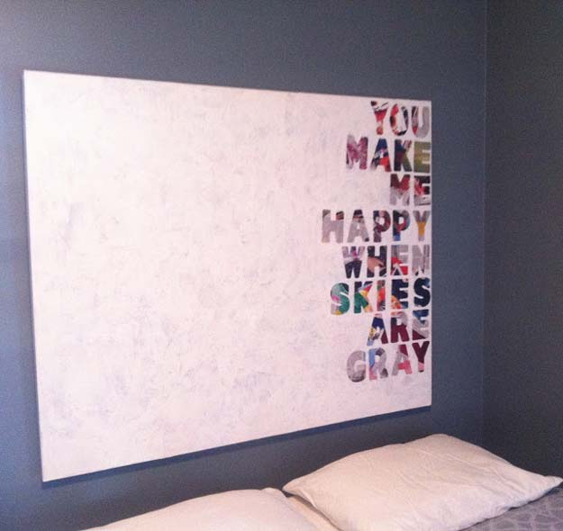 DIY Wall Art Ideas for Teen Rooms - DIY Quotes on Canvas - Cheap and Easy Wall Art Projects for Teenagers - Girls and Boys Crafts for Walls in Bedrooms - Fun Home Decor on A Budget - Cool Canvas Art, Paintings and DIY Projects for Teens http://diyprojectsforteens.com/diy-wall-art-teens