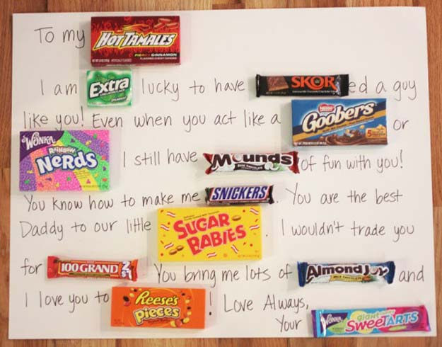 DIY Valentine Gifts - Candy Bar Card - Gifts for Her and Him, Teens, Teenagers and Tweens - Mason Jar Ideas, Homemade Cards, Cheap and Easy Gift Ideas for Valentine Presents http://diyprojectsforteens.com/diy-valentine-gifts