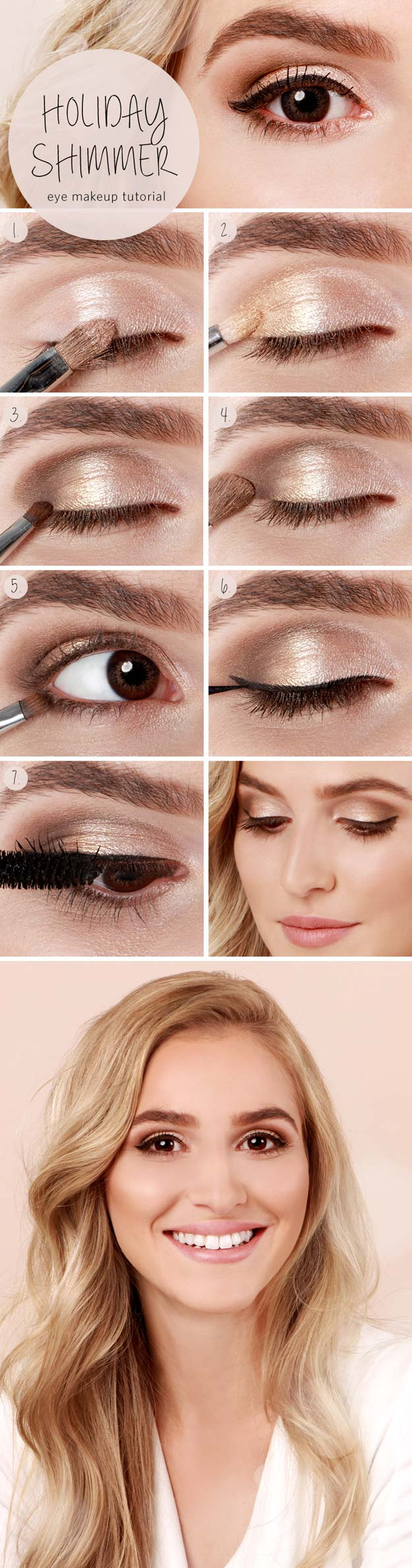 24 cool makeup tutorials for teens best makeup tutorials for teens holiday shimmer eye tutorial easy makeup ideas for beginners baditri Gallery