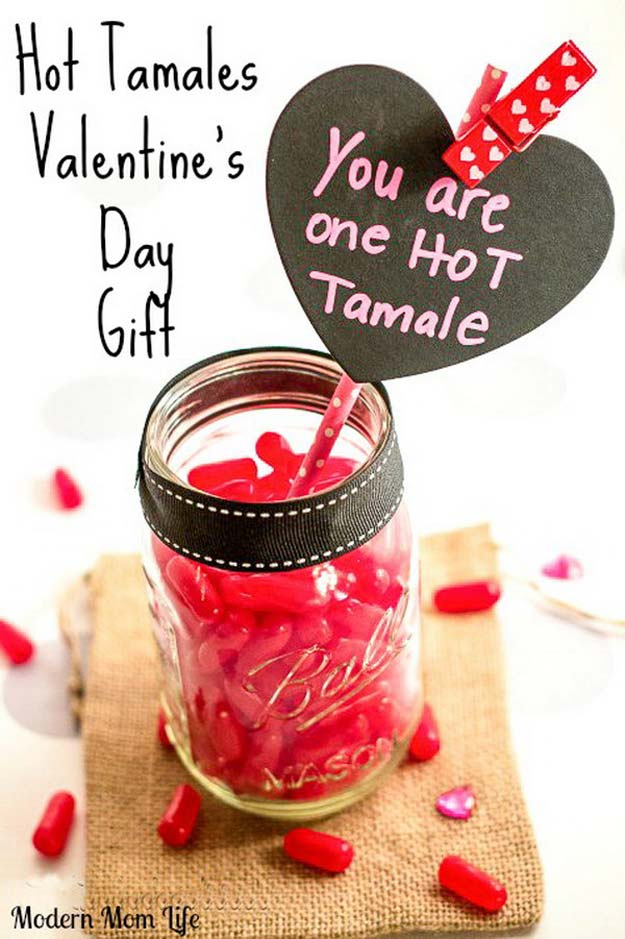 Best Mason Jar Valentine Crafts - Hot Tamales Valentine's Day Treat - Cute Mason Jar Valentines Day Gifts and Crafts | Easy DIY Ideas for Valentines Day for Homemade Gift Giving and Room Decor | Creative Home Decor and Craft Projects for Teens, Teenagers, Kids and Adults http://diyprojectsforteens.com/mason-jar-valentine-crafts