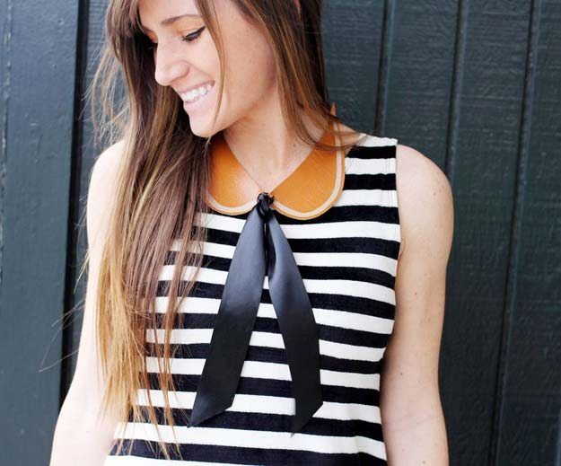 DIY Necklace Ideas - Peter Pan Collar Necklace - Pendant, Beads, Statement, Choker, Layered Boho, Chain and Simple Looks - Creative Jewlery Making Ideas for Women and Teens, Girls - Crafts and Cool Fashion Ideas for Teenagers http://diyprojectsforteens.com/diy-necklaces