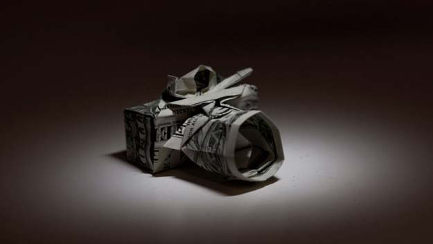 DIY Money Origami - Money Origami Camera - Step by Step Tutorials for Star, Flower, Heart, Buttlerfly, Animals. Tree, Letters, Bow and Boxes - Cute DIY Gift Ideas for Birthday and Christmas Cards - DIY Projects and Crafts for Teens http://diyprojectsforteens.com/diy-money-origami
