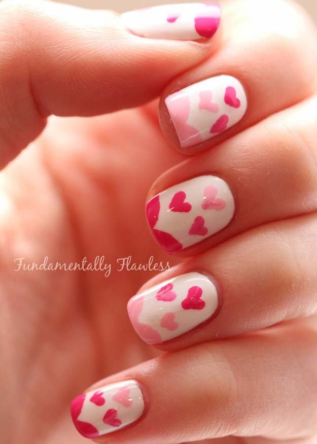 Valentine Nail Art Ideas - River Island Valentine's Day Nail Art - Cute and Cool Looks For Valentines Day Nails - Hearts, Gradients, Red, Black and Pink Designs - Easy Ideas for DIY Manicures with Step by Step Tutorials - Fun Ideas for Teens, Teenagers and Women http://diyprojectsforteens.com/valentine-nail-art-ideas