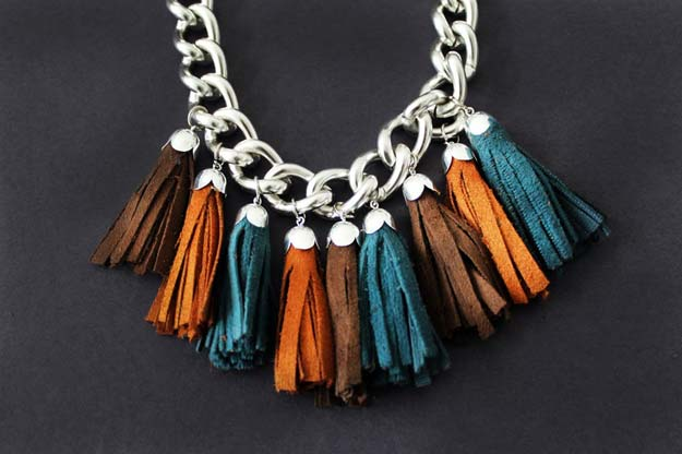 DIY Necklace Ideas - Tassel Necklace - Pendant, Beads, Statement, Choker, Layered Boho, Chain and Simple Looks - Creative Jewlery Making Ideas for Women and Teens, Girls - Crafts and Cool Fashion Ideas for Teenagers
