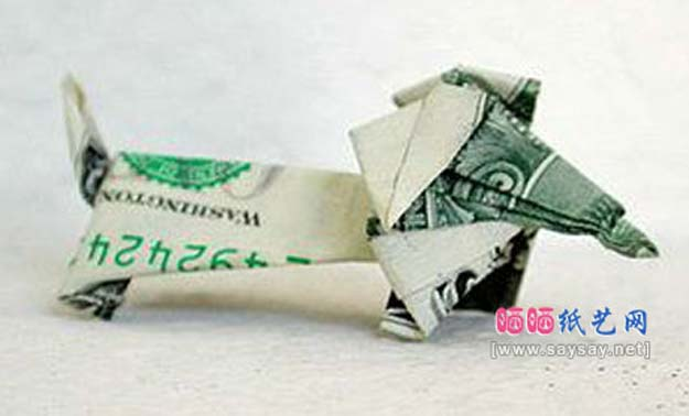 DIY Money Origami - Wiener Dog Money Origami - Step by Step Tutorials for Star, Flower, Heart, Buttlerfly, Animals. Tree, Letters, Bow and Boxes - Cute DIY Gift Ideas for Birthday and Christmas Cards - DIY Projects and Crafts for Teens http://diyprojectsforteens.com/diy-money-origami