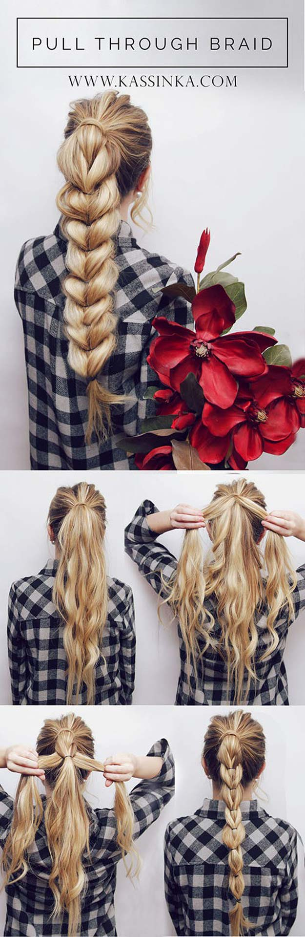 Best Hair Braiding Tutorials - Pull Through Braid Tutorial - Easy Step by Step Tutorials for Braids - How To Braid Fishtail, French Braids, Flower Crown, Side Braids, Cornrows, Updos - Cool Braided Hairstyles for Girls, Teens and Women - School, Day and Evening, Boho, Casual and Formal Looks #hairstyles #braiding #braidingtutorials #diyhair
