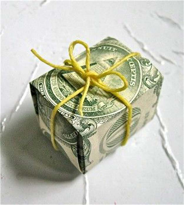 DIY Money Origami - Money Dollar Bill Box - Step by Step Tutorials for Star, Flower, Heart, Buttlerfly, Animals. Tree, Letters, Bow and Boxes - Cute DIY Gift Ideas for Birthday and Christmas Cards - DIY Projects and Crafts for Teens http://diyprojectsforteens.com/diy-money-origami